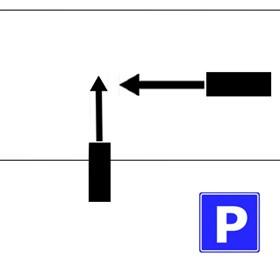 【画像】駐車場から道路に出るとき、直進してきた車と衝突