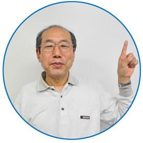 【画像】「ここがポイント」と指を指す桐谷広人さん
