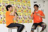 イベントに登場した(左から)織田信成と松岡修造
