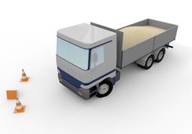 【イメージ画像】立ち往生するトラック