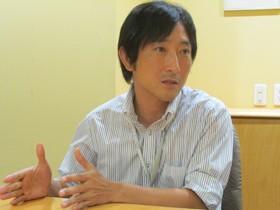【画像】インタビューに答える松山大剛さん