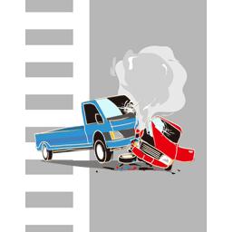 【イラスト】交通事故