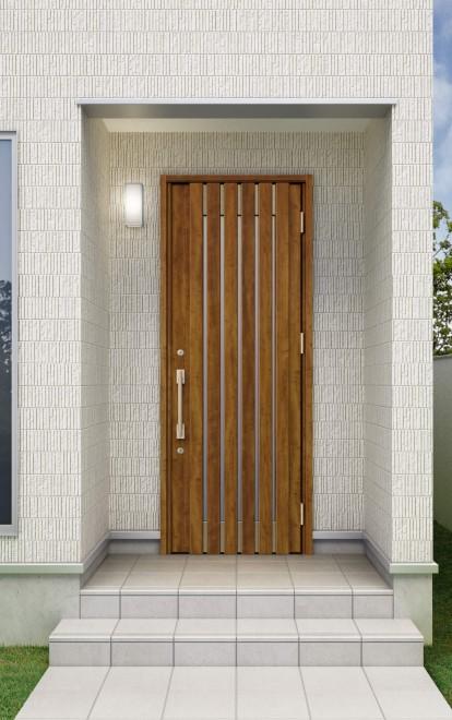 片開きドア(出典:三協アルミ「ファノーバ」)