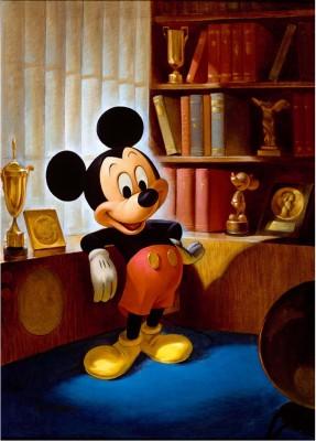 ジョン・ヘンチ画 ミッキーマウスのポートレート(1953年)(C)Disney