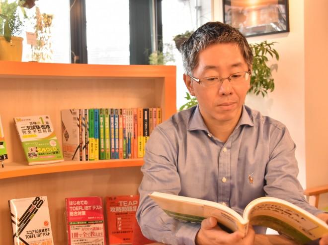 ヒロ前田先生が経営する英語に特化した自習スペース「T's ラウンジ」にて
